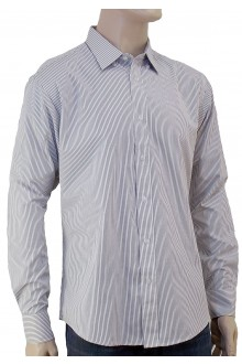 DAVID'S L/S VIOLET PIN STRIPE SHIRT